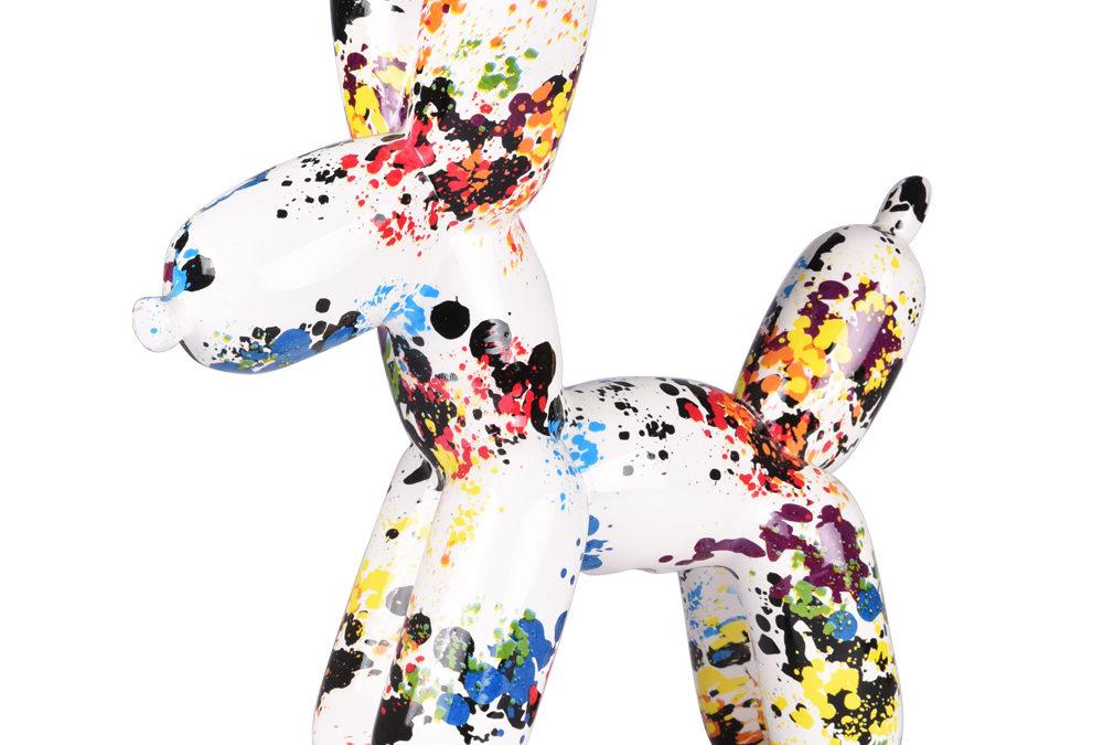 statuette chien ballons brico M Astaffort
